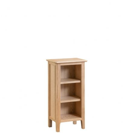 Newhaven Oak Small Narrow Bookcase